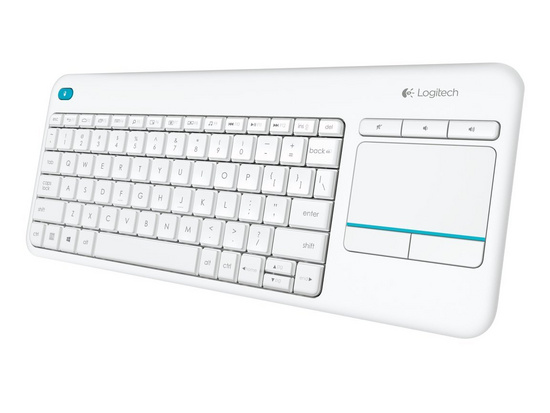 Keyboard K400 PLUS Wireless Touch, Logitech, Unifying, white, SLO g