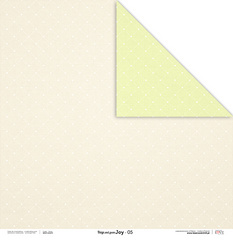 Scrapbooking Papir - Beige and green JOY 05 - 30,5 x 30,5 cm