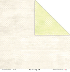 Scrapbooking Papir - Beige and green JOY 06 - 30,5 x 30,5 cm